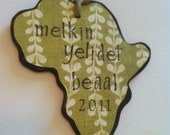 Ethiopia Amharic Christmas Ornament - Made to Order