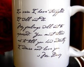 Mr. Darcy Proposal Mug -  SHIPS TODAY with 2 to 3 day priority delivery