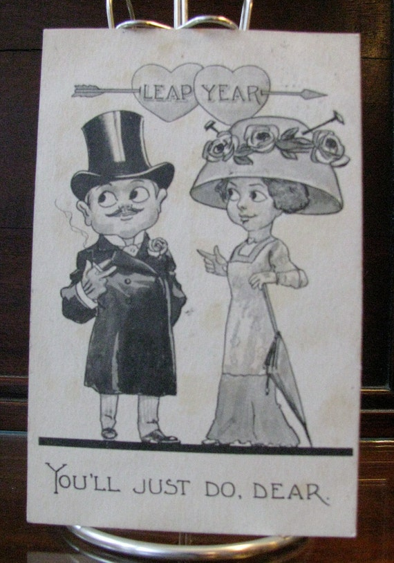 1912 Leap Year Postcard
