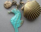 Shell Locket with Seahorse
