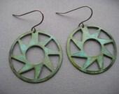 Verdigris Steampunk Earrings