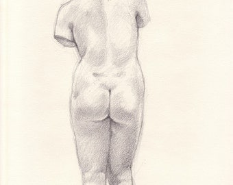 Study After Greek Statue- Free Shipping