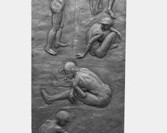 Relief Sculpture- Female Figures- Free LOCAL DELIVERY