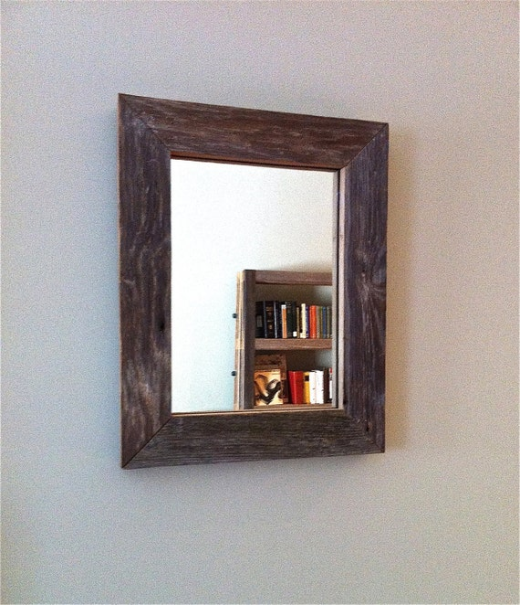 Reclaimed Barn Wood Mirror- Free Shipping
