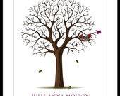 Personalized Graduation Keepsake Tree Gift with birds in nest- choose your size and font style