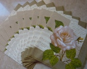 10 Flowers paper napkins lot for craft or collections,