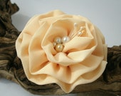 Ivory Cream Flower Brooch Pin or Hair Clip