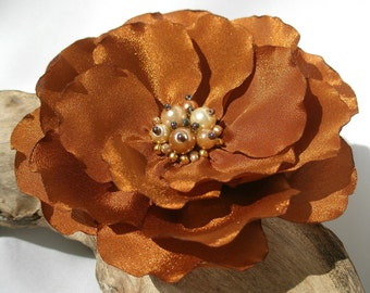 Gold Flower Pin Or Hair Clip