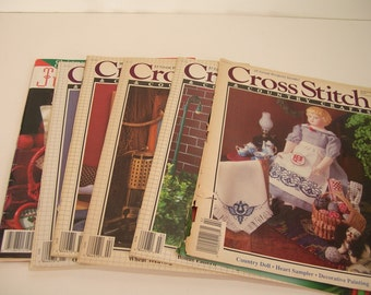 Six Vintage Cross Stitch Magazines
