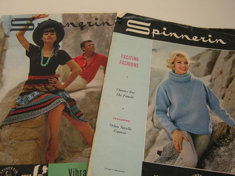 High Fashion Knitting : Spinnerin vintage high fashion knitting magazines