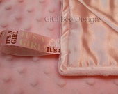 Personalized Silky Satin and Minky LOVEY