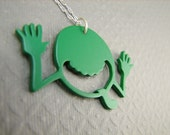 Hitchhikers Green Guy Necklace