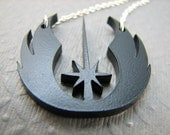 Jedi Order Necklace Geeky Necklace in Black
