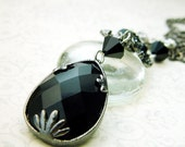 Noir Jewels at Midnight - A Shabby Chic Repurposed Necklace