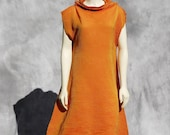 ON SALE Vintage Issey MIYAKE dress gown 80's pleats please dress Sm by thekaliman