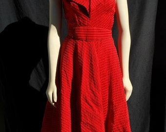 Vintage dress 50's halter new look dress sM marylin glam by thekaliman