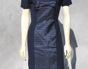 Vintage 60's OLEG CASSINI tailored dress couture s6 by thekaliman old hollywood glam
