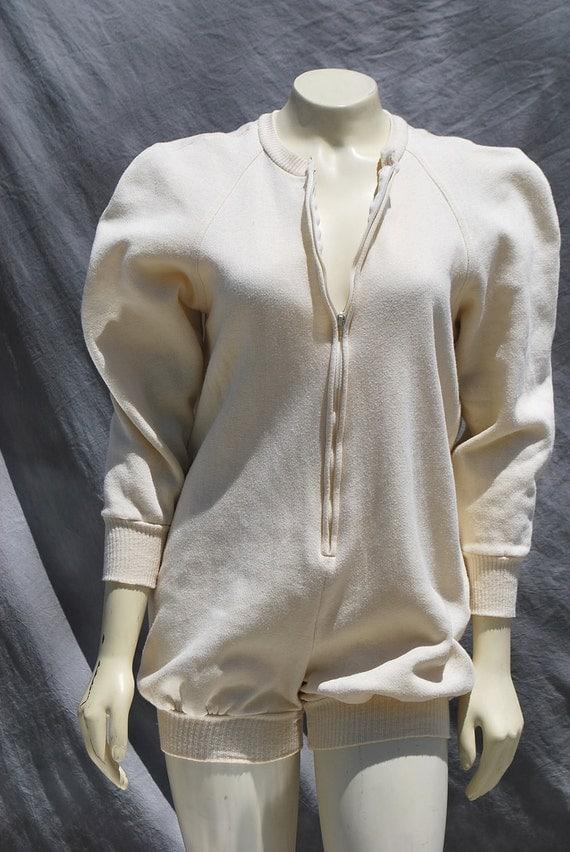 Vintage 80's Norma KAMALI romper short jumpsuit sexy hot pants suit sL by thekaliman