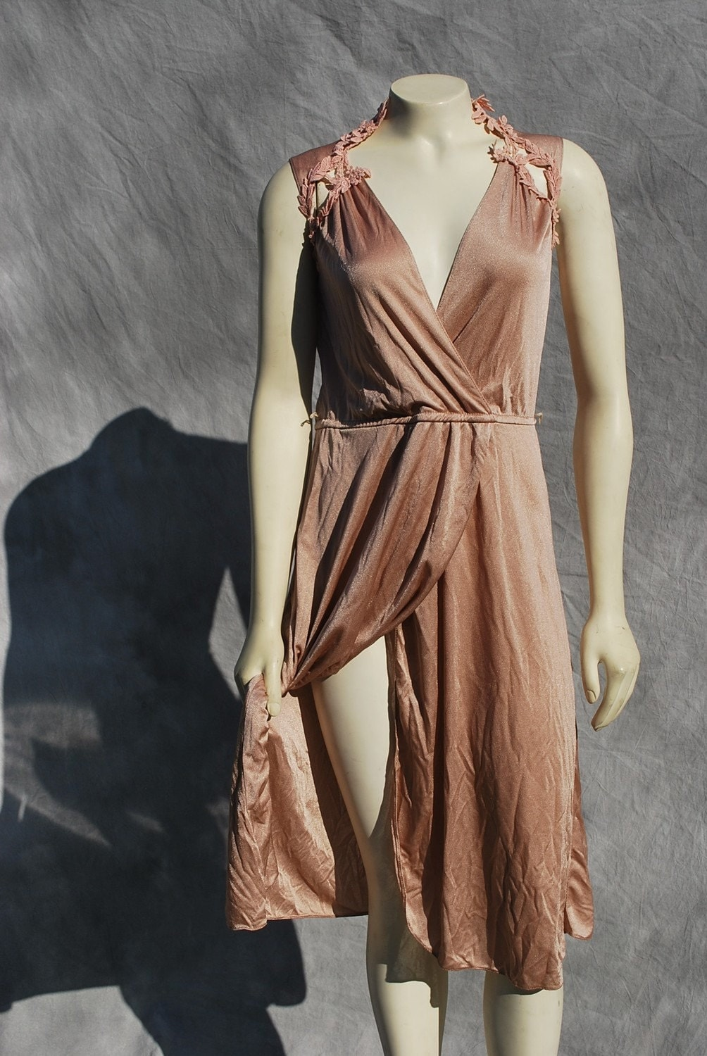vintage 70's disco dress sexy halston like disco dress