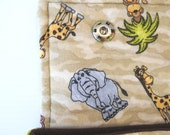 Wild Safari- 13 in Macbook Padded Laptop Sleeve w/ brown lining