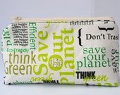 Anything Goes Pouch- Think Green
