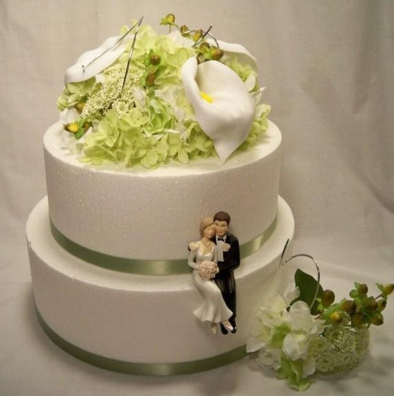 hydrangea cake topper