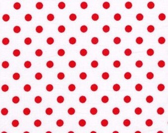 "Michael Miller Peppermint Dumb Dot Fabric Remnant 13"" end of bolt"