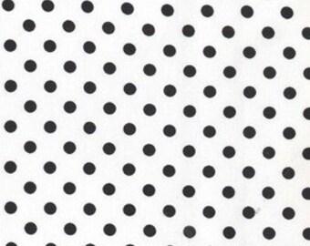 Michael Miller Ebony black white Dumb Dot Fabric custom listing for Kelleen
