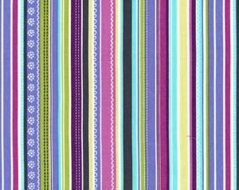 Michael Miller Gray pretty stripe 1/2 YD (Last one)