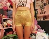 SALE - 100 Percent Gold - Hot Pants