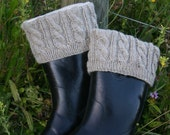 PATTERN Knitted Boot Cuffs with Full-boot Fleece Sock Liner --PATTERN ONLY--