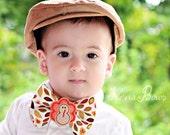 Thanksgiving Bow Tie - Tan Turkey - Boy