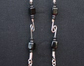 Black Bead Dangle
