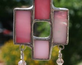 Pink Stained Glass Pendant