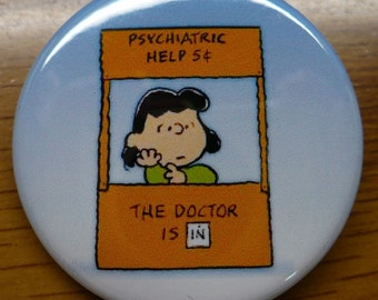 Peanuts Lucy Button