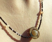 Moons of Saturn Necklace - Proportional Distances - Statement Necklace - Solar System - Planet Saturn - Beadwork