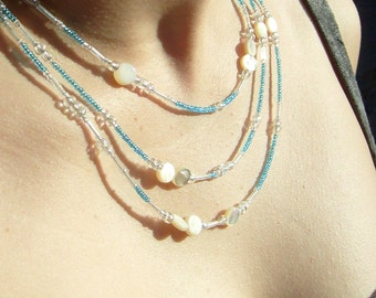 Troposphere Necklace in Glass and Shell
