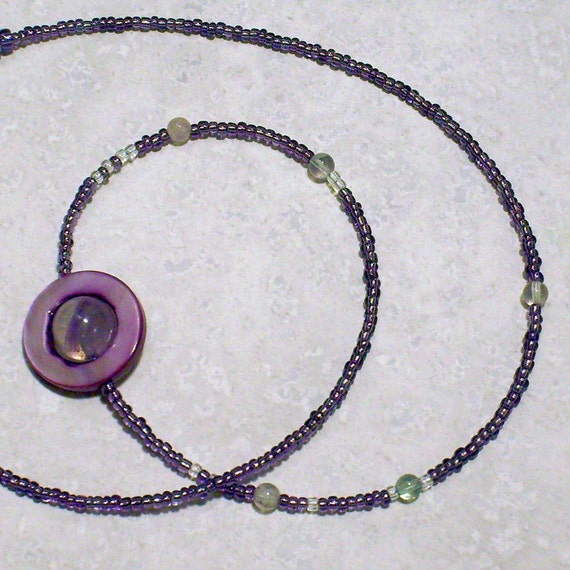 Moons of Saturn Necklace - Purple - Proportional Distances