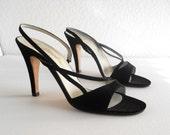 vintage 1970s sexy strappy slingback heels by Garolini