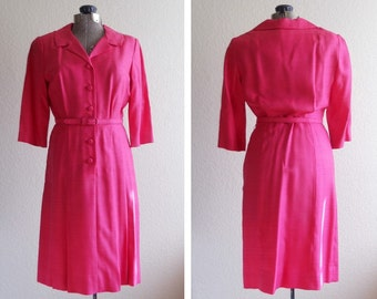 vintage Lordleigh pink linen dress, JUST LOWERED