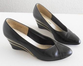 vintage wedge pumps by Magdesians *** PRICE REDUCED ***