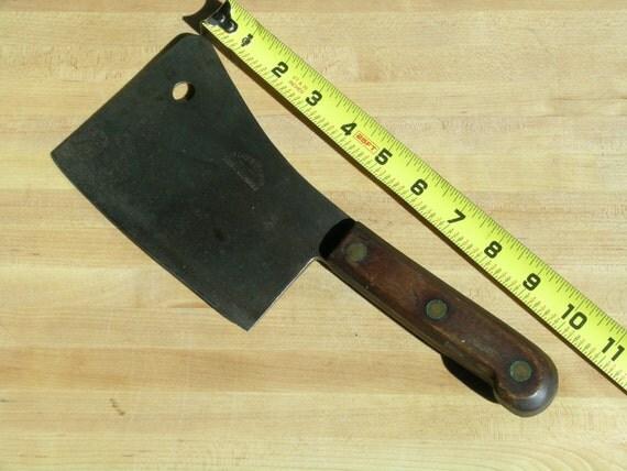 Vintage Antique Village Blacksmith Butcher Meat Chef Cleaver 6 inch Knife