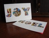 Postage Stamp Christmas Cards- NOEL and JOY
