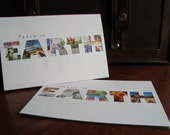Postage Stamp Holiday Cards- Peace on EARTH