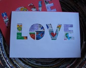 Postage Stamp Cards (Set of 2) - LOVE
