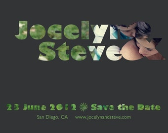 Cutout Save the Date Digital File (One Sided)