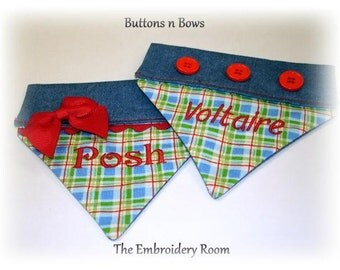 Dog Bandanas - Buttons n Bows