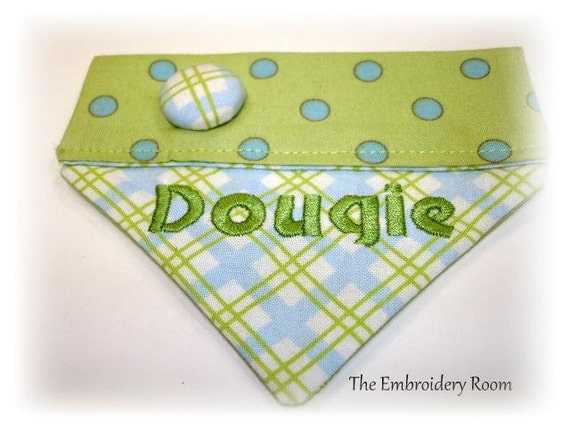 Collared Dog Bandana-Summer Days  Sizes teacup, xsmall, small or medium
