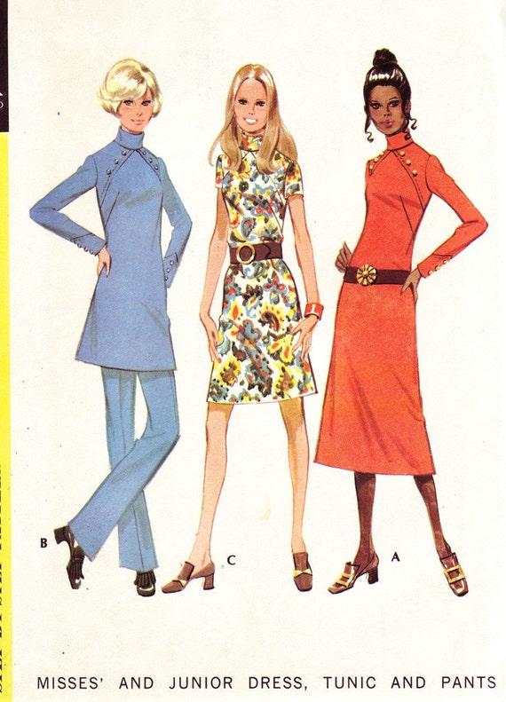 Vintage Dress, Tunic, Pants Sewing Pattern McCall's 2553