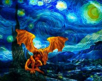 Starry Nightmare -- 8x10 Original Signed Fine Art Print